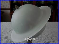 1939 New Work World's Fair Saturn Planet Lamp Art Deco Pale Blue Working Frosted