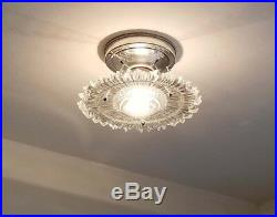 436b Vintage arT Deco Ceiling Light Lamp Fixture Glass Re-Wired 1 of 6