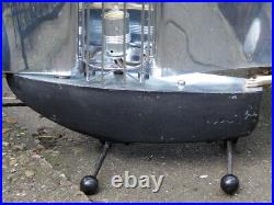 ART DECO 1940s Bunting Chrome Yacht Fire CONVERTED TO A LAMP