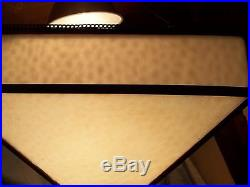 Antique Lighting Lamp Art Deco Arts Crafts Mission Bryant Mica Leaded Shade