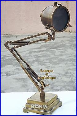 Art Deco Adjustable Industrial Dining Chairs Side Desk Lamp Antique Royal Look