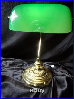 Art Deco Style 20th Century Bankers Office Desk Man Cave Lamp