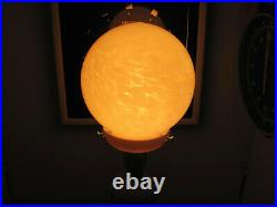 Art Deco Vintage Lamp With a Stunning Round Yellow Mottled Glass Shade