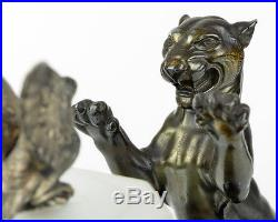 Extremely Rare 1920s French ART DECO Panther SCULPTURE LAMP by PERRINA Of PARIS