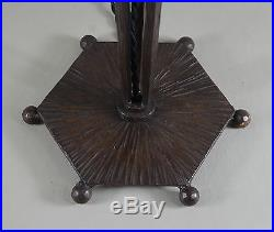 FRENCH 1930 ART DECO LAMP IN WROUGHT IRON. Muller era