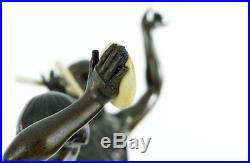 Fab 1920s French Art Deco Lady Dancer Fire Dancer SCULPTURE LAMP by LIMOUSIN