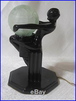Frankart 3 replacement lamp globe for1920 model art deco frosted green glass