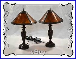 Pair Art Deco Style Brass Table or Bedside Lamps G&G Bros RRP$380 Temple&Webster