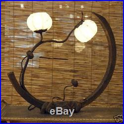 Rice Paper Arc Shade Lantern Light Adjustable Touch Table Art Deco Accent Lamp