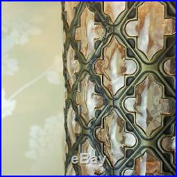 Turkish Moroccan Style Art Deco Clear Glass Hanging Column Lamp Light