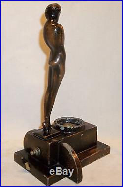 UNUSUAL FRANKART Art Deco Nude Nymph Faceless Fairy Lamp Marked Pat. Appl'd For