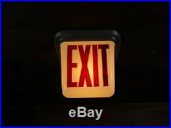 Vintage PERFECLITE EXIT Sign Lamp Light Theater Art Deco glass globe 5 AVAILABLE