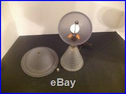 Vtg Antique Art Deco 1939 Ny Worlds Fair Frosted 11.5 Saturn Lamp Works