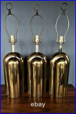 Westwood Industries Brass Mid Century Modern Art Deco Style Lamps